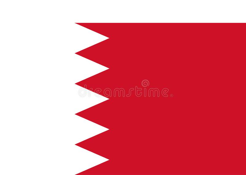 Bandiera del Bahrain royalty illustrazione gratis
