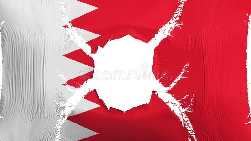 Bandiera del Bahrain con un foro royalty illustrazione gratis