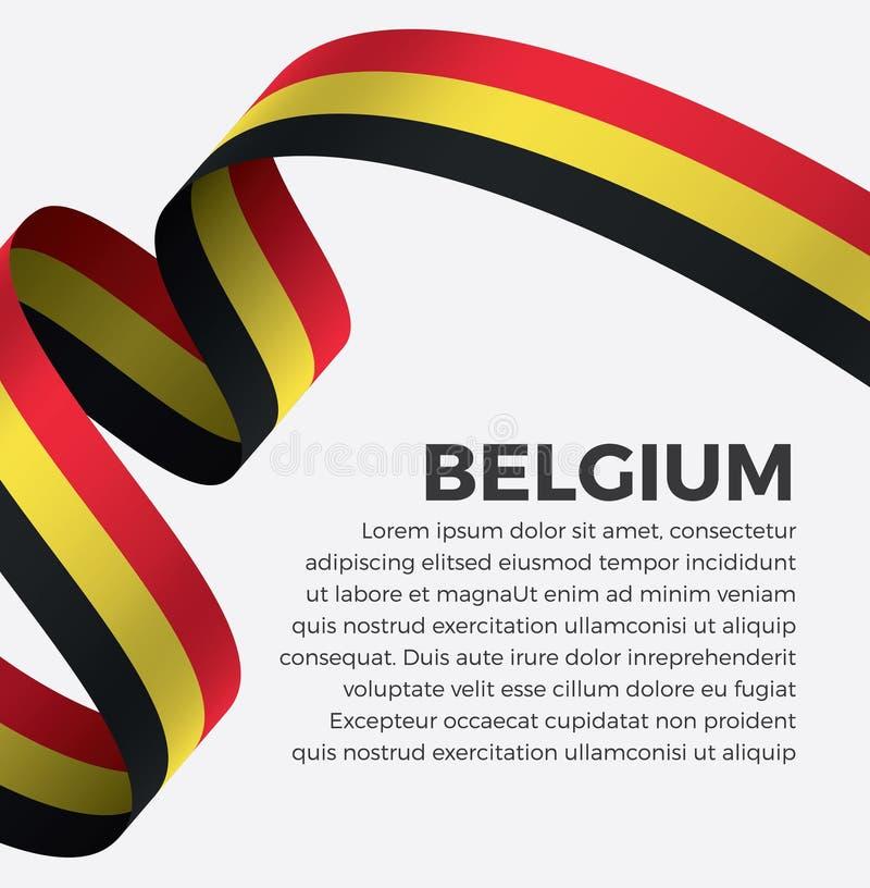 Bandiera del Belgio per decorativo Fondo di vettore illustrazione di stock