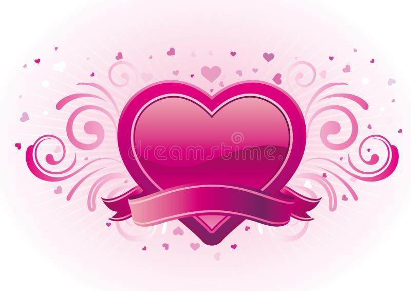 bandiera del biglietto di S. Valentino royalty illustrazione gratis