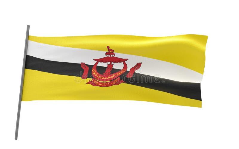 Bandiera del Brunei illustrazione vettoriale