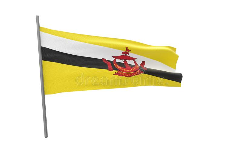Bandiera del Brunei illustrazione di stock