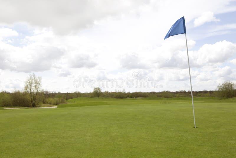 Bandiera del campo da golf immagine stock