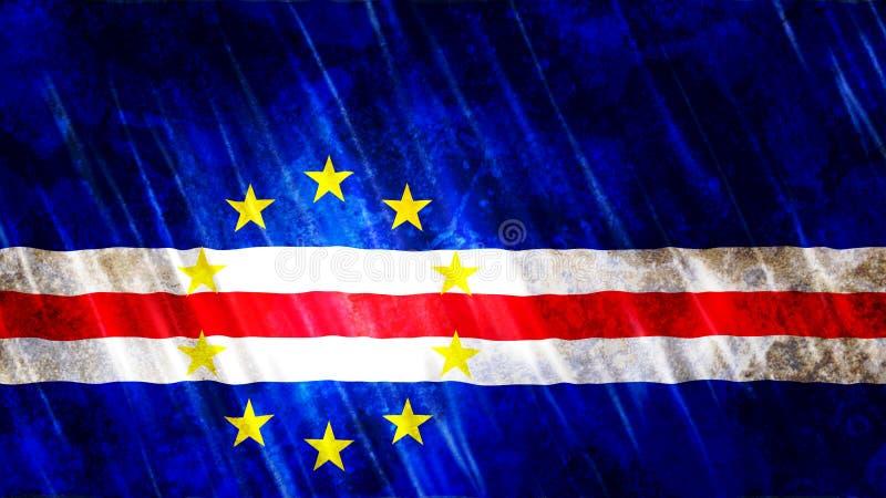 Bandiera del Capo Verde illustrazione vettoriale
