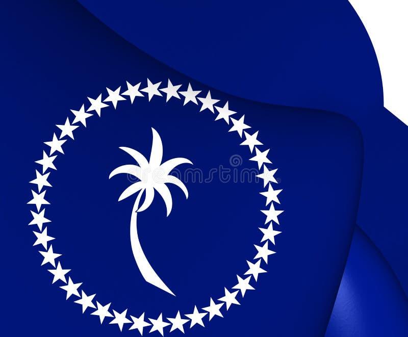 Bandiera del Chuuk illustrazione vettoriale
