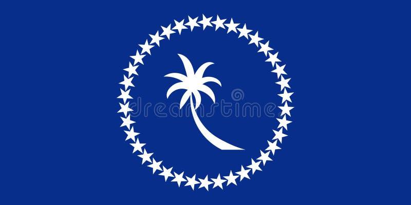 Bandiera del Chuuk Illustrazione di vettore Bandiera del mondo illustrazione vettoriale