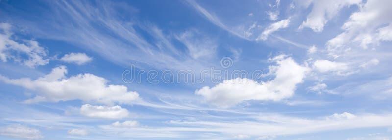 Bandiera del cielo blu fotografia stock