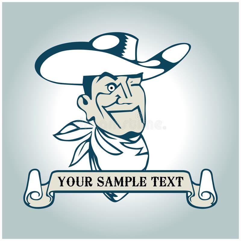 Bandiera del cowboy illustrazione vettoriale