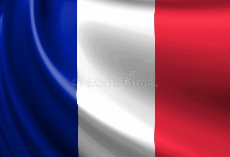 Bandiera del francese illustrazione vettoriale