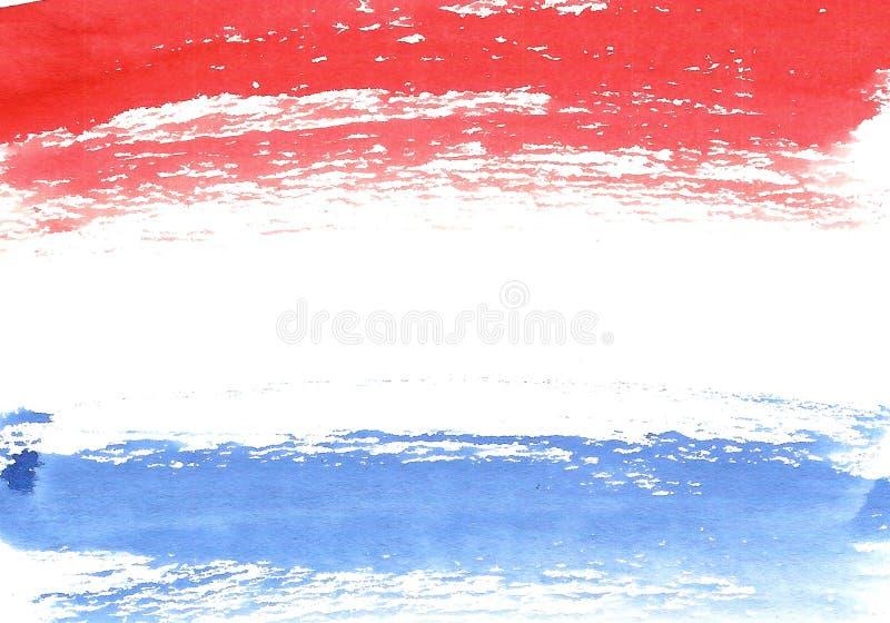 Bandiera del francese dell'acquerello, insegna astratta della Francia royalty illustrazione gratis