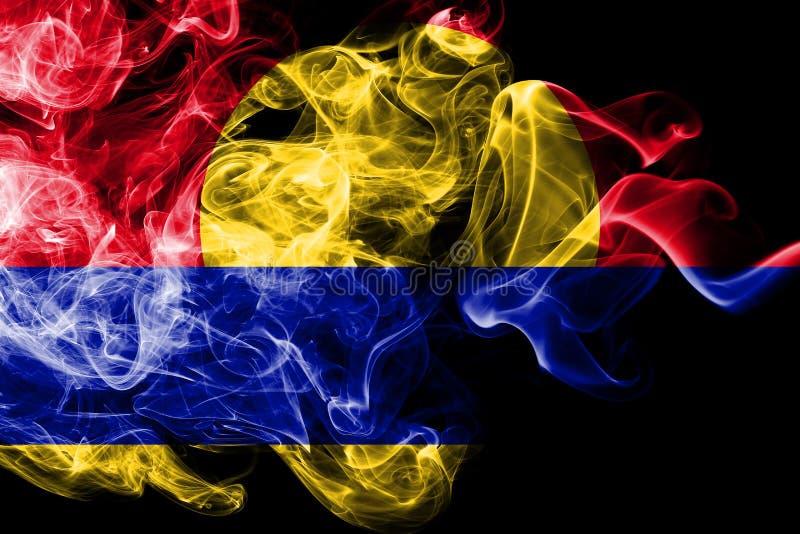 Bandiera del fumo dell'atollo di Palmira, bandiera dipendente del territorio degli Stati Uniti immagine stock