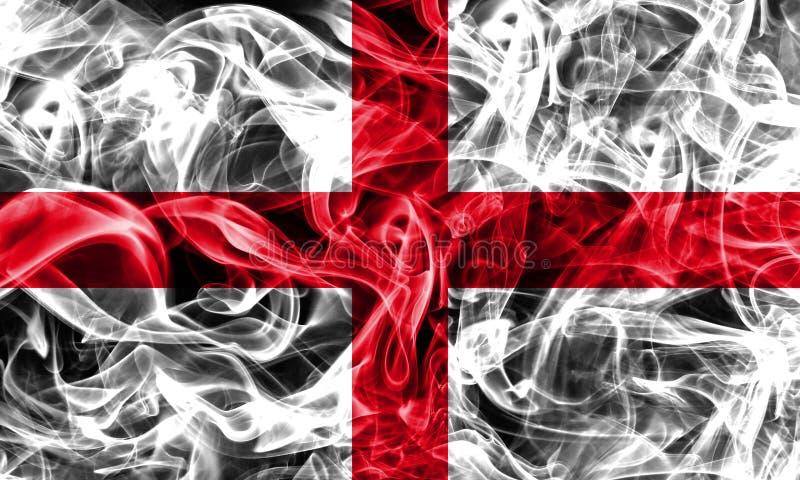 Bandiera del fumo dell'Inghilterra, bandiera dello stato illustrazione vettoriale