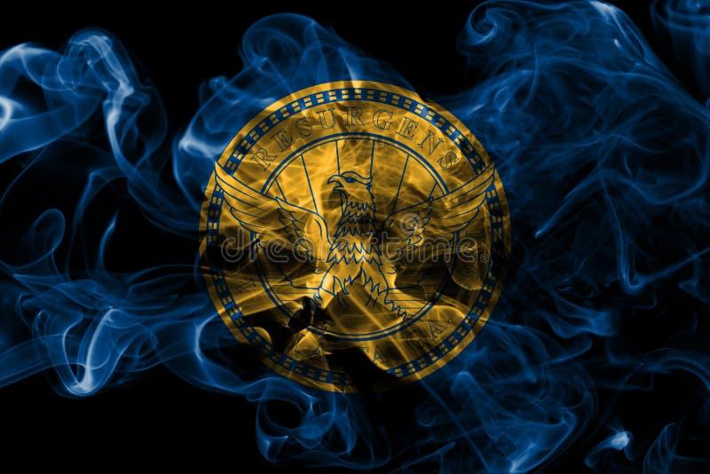 Bandiera del fumo della città di Atlanta, Georgia State, Stati Uniti d'America immagine stock