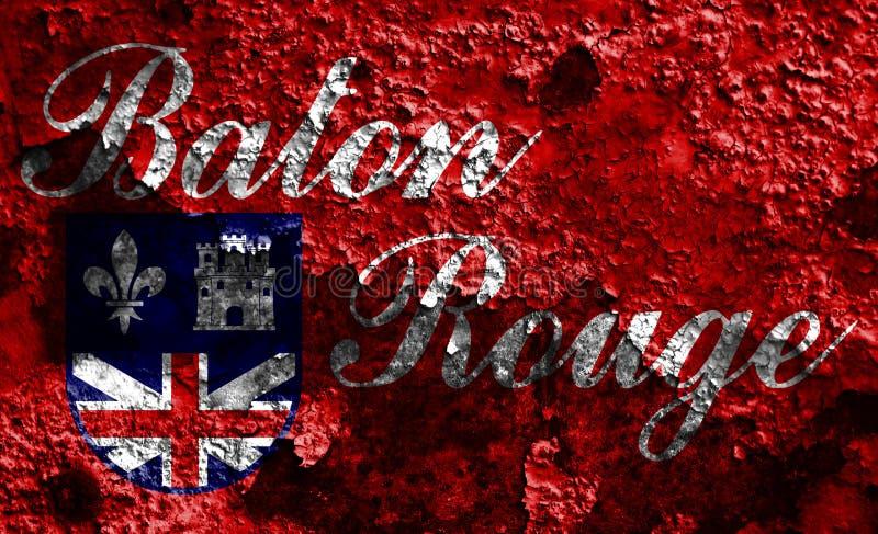 Bandiera del fumo della città di Baton Rouge, stato della Luisiana, Stati Uniti di A immagine stock libera da diritti