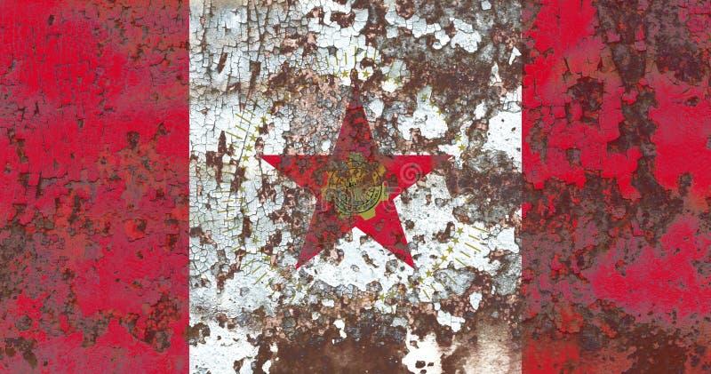 Bandiera del fumo della città di Birmingham, stato dell'Alabama, Stati Uniti di Amer fotografia stock