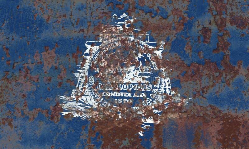 Bandiera del fumo della città di Charleston, Carolina State del sud, Stati Uniti immagine stock libera da diritti