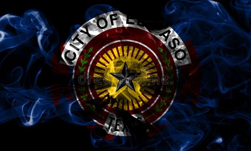 Bandiera del fumo della città di El Paso, Texas State, Stati Uniti d'America immagini stock libere da diritti