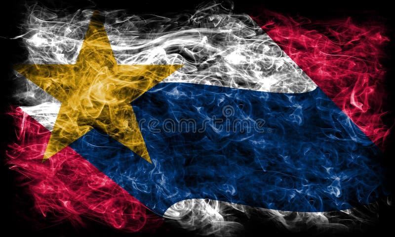 Bandiera del fumo della città di Lafayette, Indiana State, Stati Uniti di Ameri immagini stock libere da diritti
