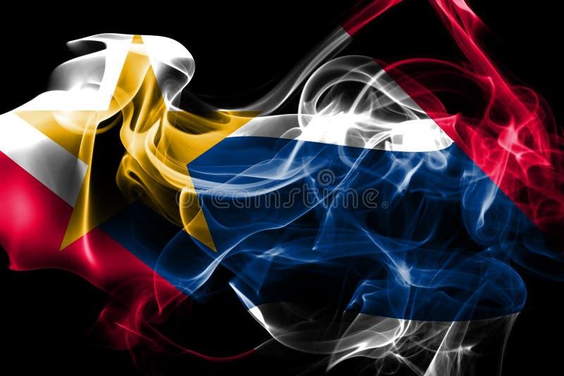 Bandiera del fumo della città di Lafayette, Indiana State, Stati Uniti di Ameri fotografia stock