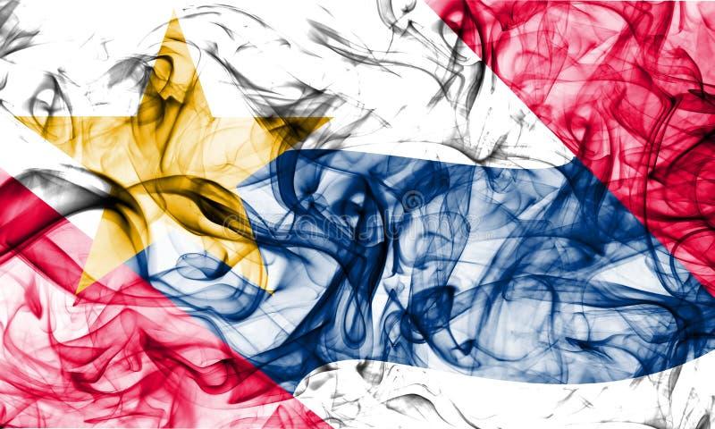 Bandiera del fumo della città di Lafayette, Indiana State, Stati Uniti d'America fotografia stock libera da diritti