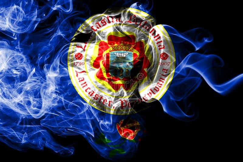 Bandiera del fumo della città di Lancaster, stato della Pensilvania, Stati Uniti d'America royalty illustrazione gratis