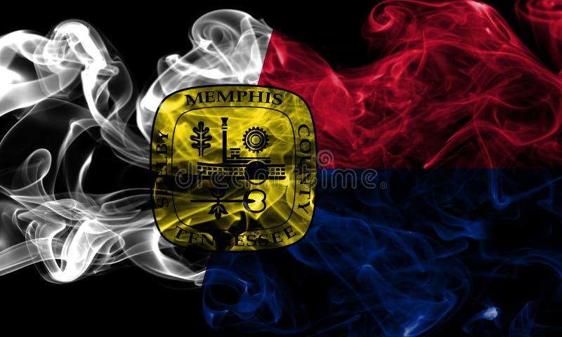 Bandiera del fumo della città di Memphis, Tennessee State, Stati Uniti d'America illustrazione di stock