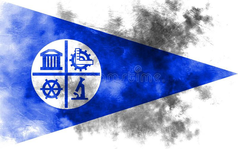 Bandiera del fumo della città di Minneapolis, stato del Minnesota, Stati Uniti di A illustrazione di stock