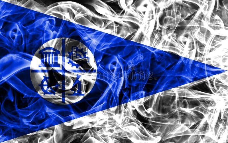 Bandiera del fumo della città di Minneapolis, stato del Minnesota, Stati Uniti di A immagine stock libera da diritti