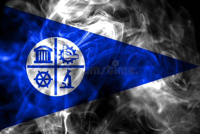 Bandiera del fumo della città di Minneapolis, stato del Minnesota, Stati Uniti di A illustrazione vettoriale