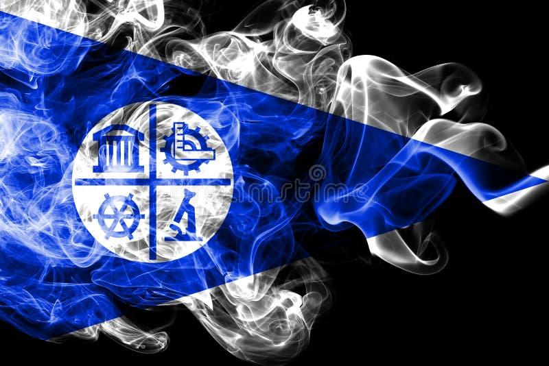 Bandiera del fumo della città di Minneapolis, stato del Minnesota, Stati Uniti d'America illustrazione di stock