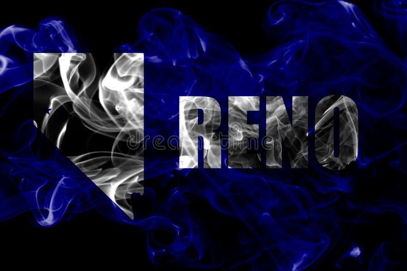 Bandiera del fumo della città di Reno, Nevada State, Stati Uniti d'America fotografia stock libera da diritti