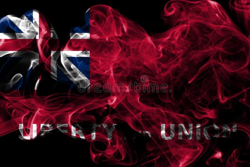 Bandiera del fumo della città di Taunton, stato di Massachusetts, Stati Uniti di A fotografia stock