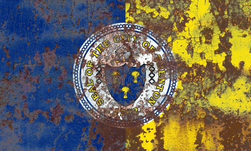 Bandiera del fumo della città di Trenton, stato del New Jersey, Stati Uniti di Amer immagini stock libere da diritti