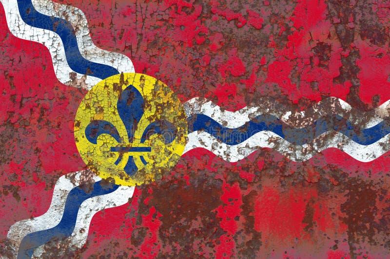 Bandiera del fumo della città del Saint Louis, stato del Missouri, Stati Uniti dell' fotografie stock libere da diritti
