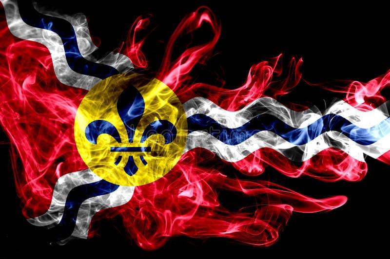 Bandiera del fumo della città del Saint Louis, stato del Missouri, Stati Uniti dell' fotografia stock