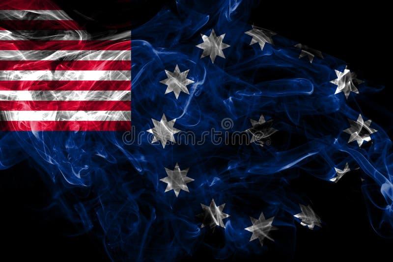 Bandiera del fumo della citt? di Easton, stato della Pensilvania, Stati Uniti d'America royalty illustrazione gratis