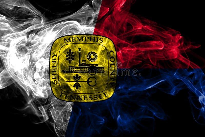 Bandiera del fumo della citt? di Memphis, Tennessee State, Stati Uniti d'America illustrazione vettoriale