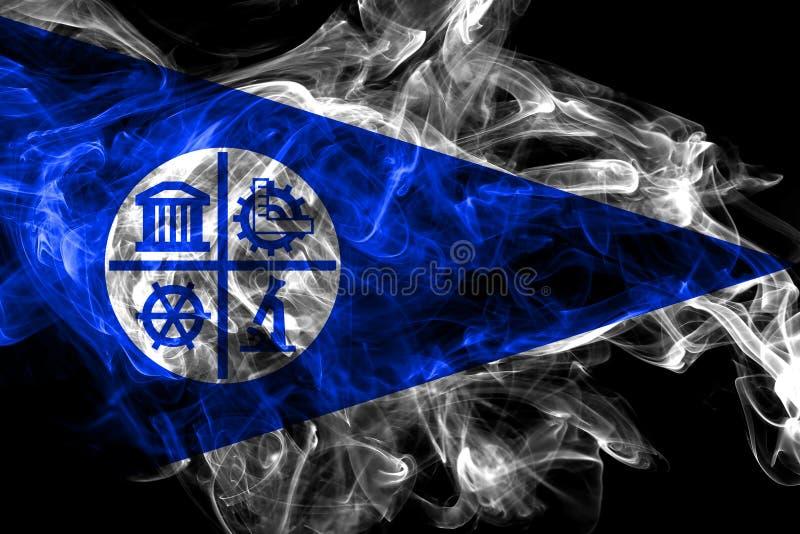 Bandiera del fumo della citt? di Minneapolis, stato del Minnesota, Stati Uniti d'America royalty illustrazione gratis