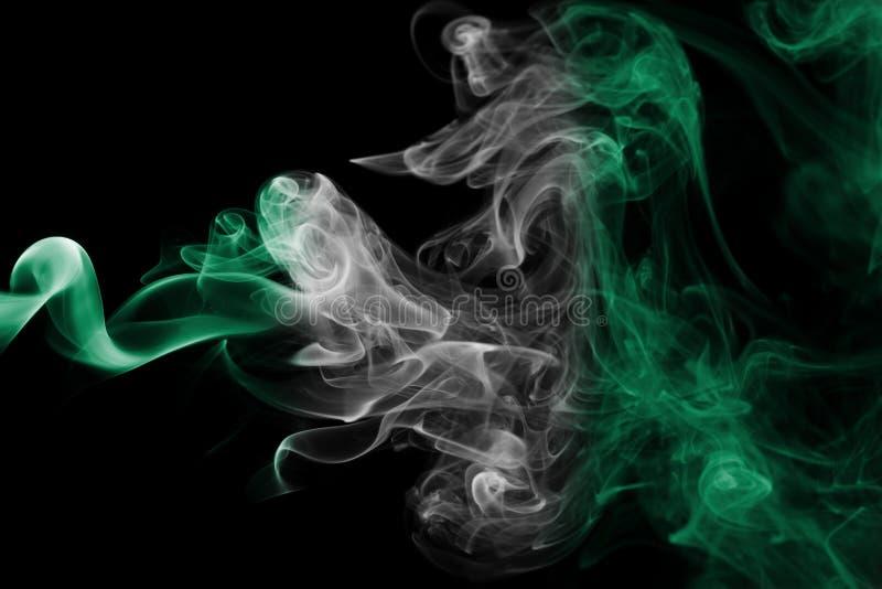 Bandiera del fumo della Nigeria fotografia stock libera da diritti