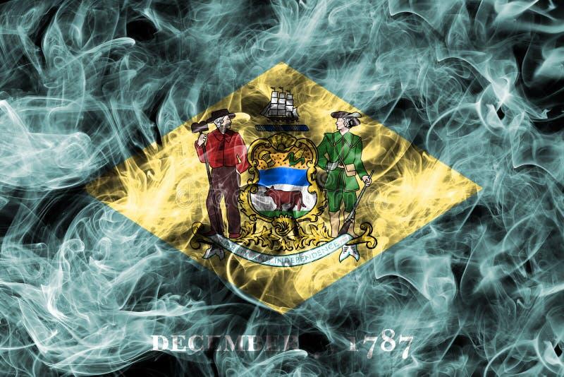 Bandiera del fumo dello stato del Delaware, Stati Uniti d'America fotografia stock