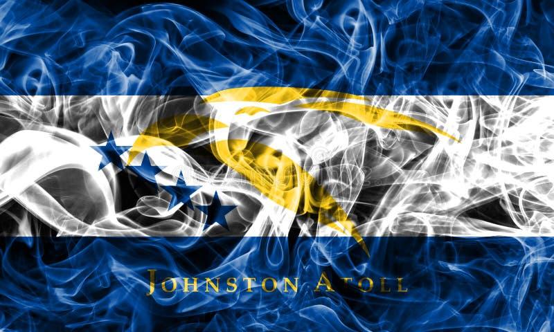 Bandiera del fumo di Johnston Atoll, Florida dipendente del territorio degli Stati Uniti fotografie stock
