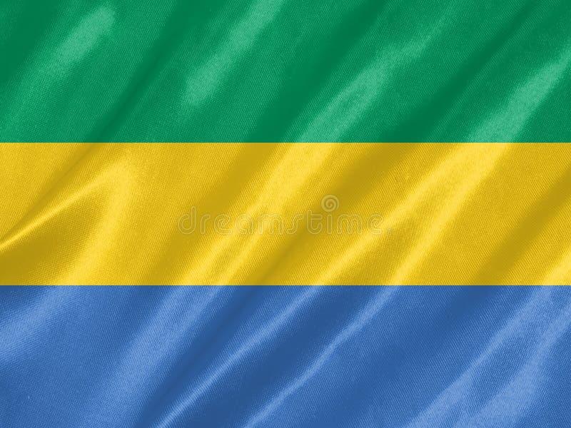 Bandiera del Gabon illustrazione vettoriale