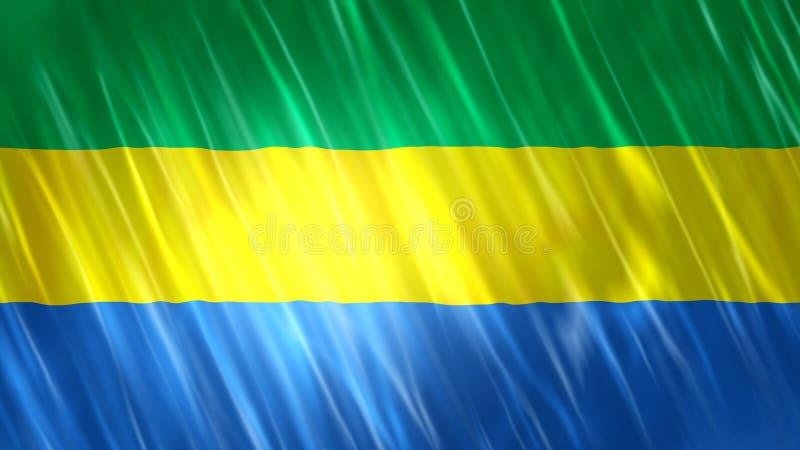 Bandiera del Gabon royalty illustrazione gratis