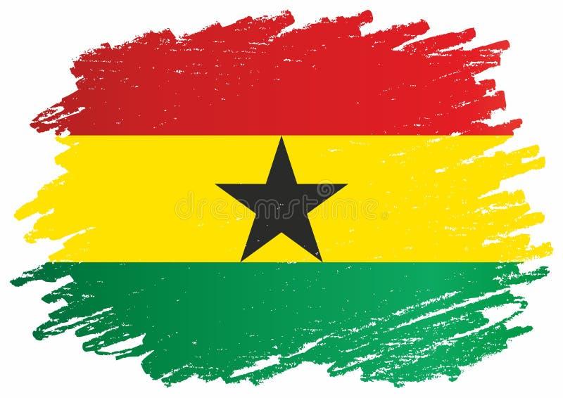 Bandiera del Ghana, Repubblica del Ghana Modello per progettazione del premio, un documento ufficiale con la bandiera del Ghana royalty illustrazione gratis