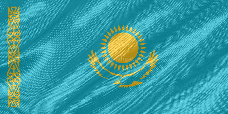 Bandiera del Kazakistan fotografia stock