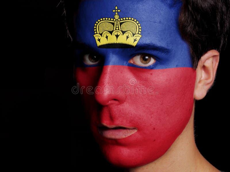 Bandiera del Liechtenstein fotografia stock