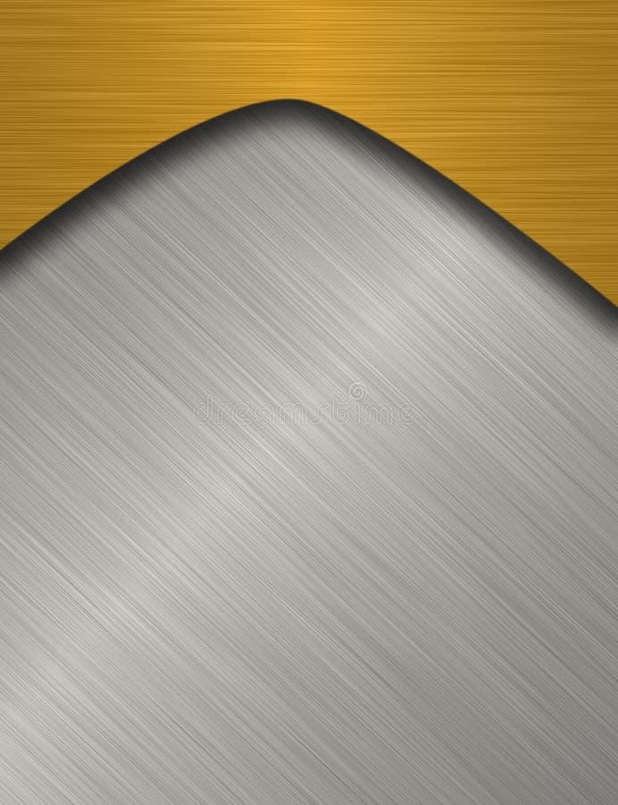Bandiera del metallo illustrazione vettoriale