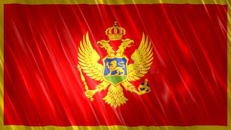 Bandiera del Montenegro illustrazione vettoriale