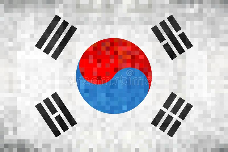 Bandiera del mosaico di lerciume della Corea del Sud illustrazione vettoriale
