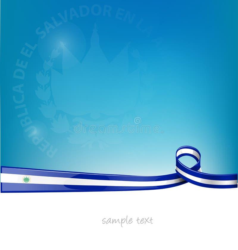 Bandiera del nastro del El Salvador royalty illustrazione gratis
